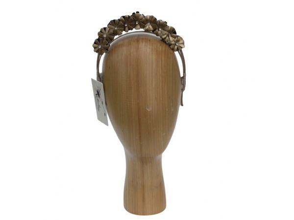 Gold PU & Crystal Hair Band