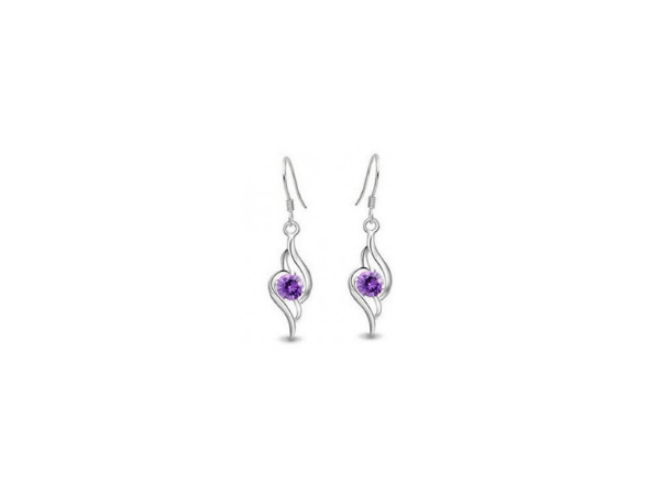 E196 Crystal drop earring