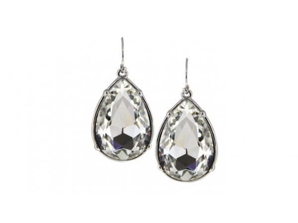 E147c Large tear drop earring