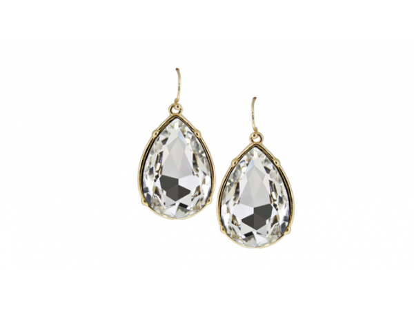 E147g Large tear drop earring