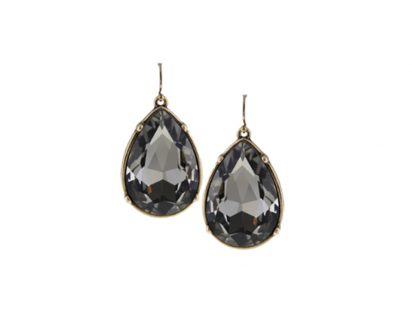 E147gy Large tear drop earring