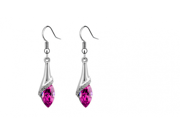 E219pk Crystal drop earring