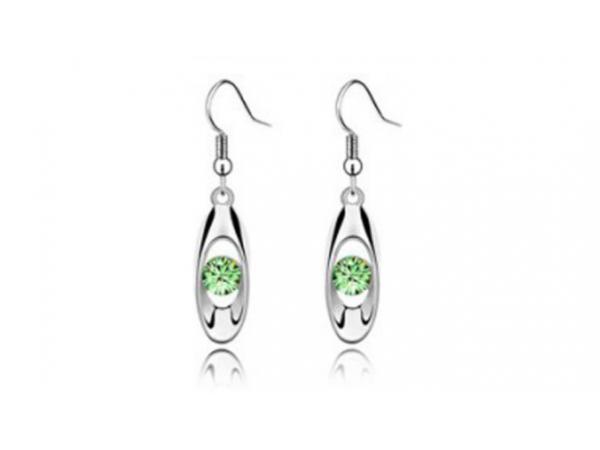 E231gn Silver & crystal earring