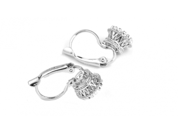E438 Small Crystal Drop Earring