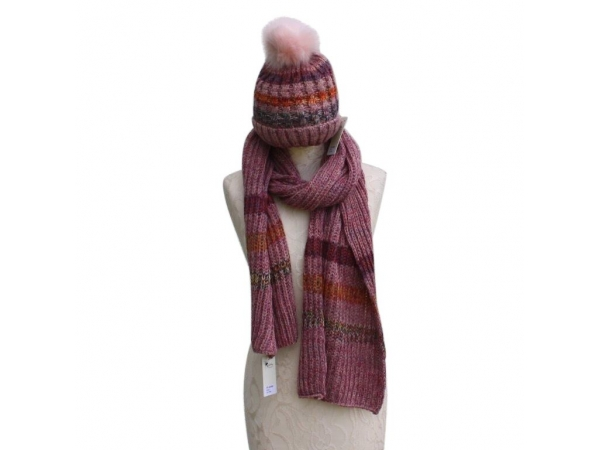 Pink Hat & Scarf Set