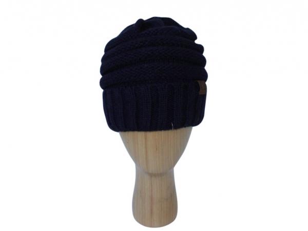 H020 Navy ribber winter hat.