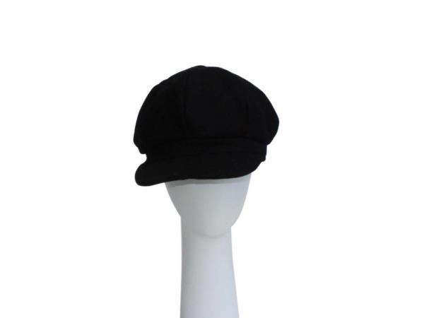 Black Baker Boy Hat.
