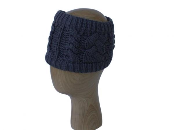 HB001 Grey Wool Headband