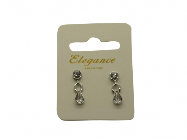 E161 Crystal drop earring
