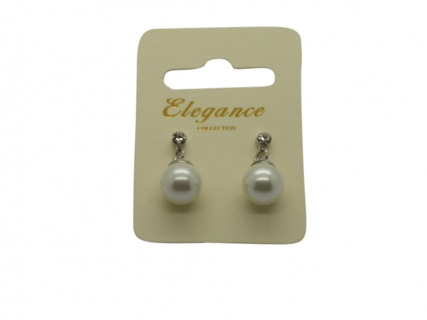E064cm Pearl & crystal earring