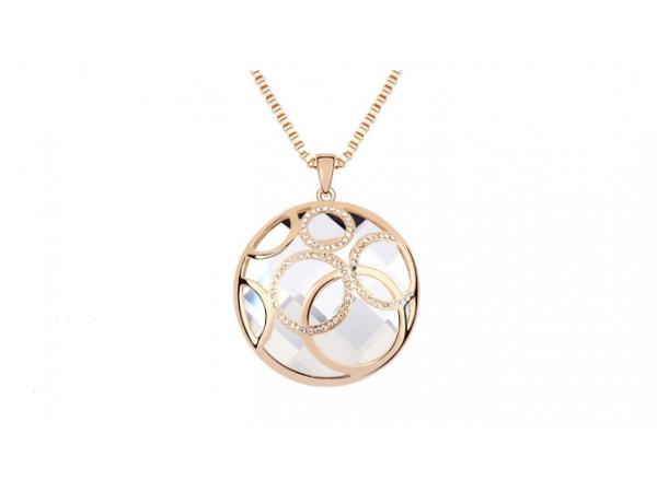 N304 Long clear crystal pendant