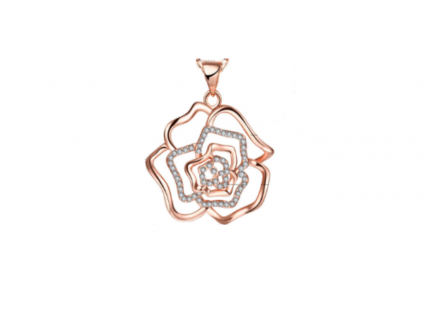 N414 Rose gold pendant