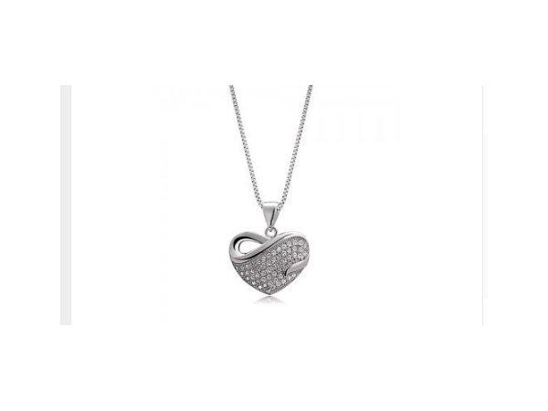 Ne309s Crystal Heart Necklace