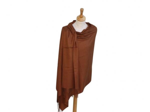 Pashmina Scarf Brown Wool/cashmere