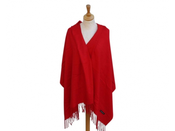 Pashmina Scarf Red Wool/cashmere