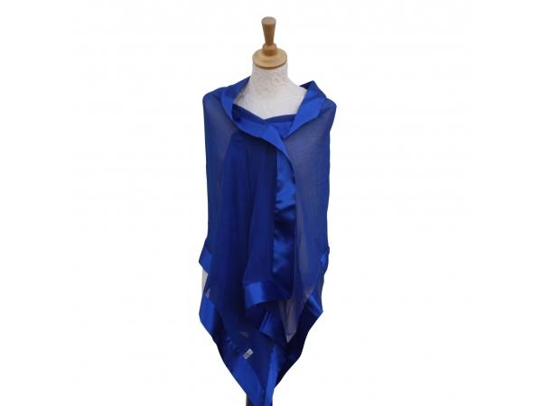 Cobalt silk scarf
