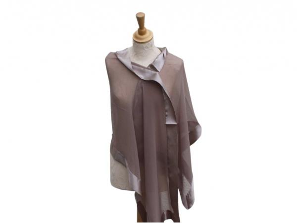 Taupe silk Wrap