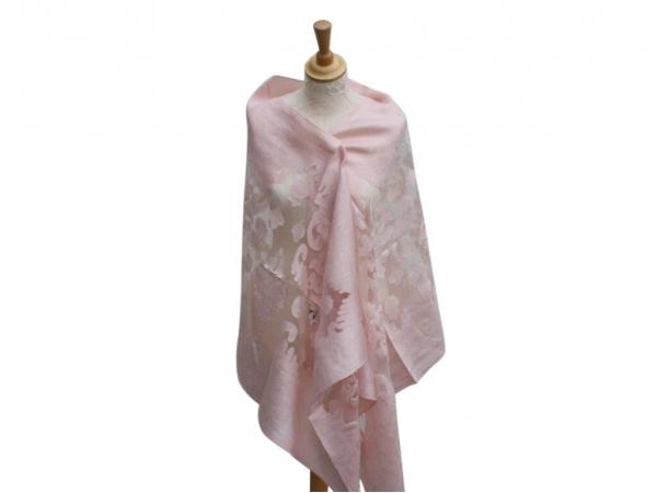 Viscose,cotton & silk wrap Lt.Pink