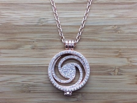41G Rose gold coin Pendant