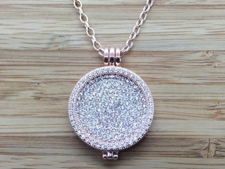 44G Rose gold coin Pendant