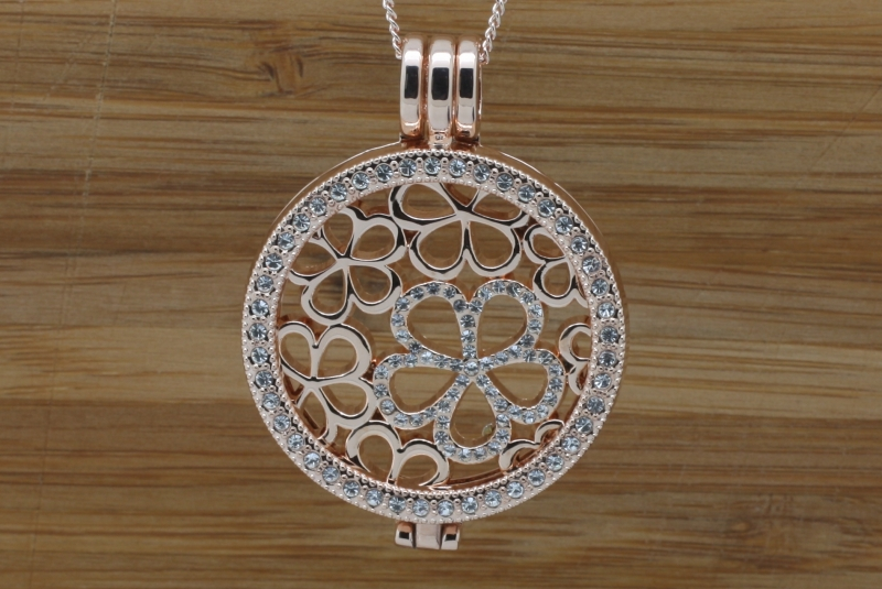 46G Rose gold coin Pendant