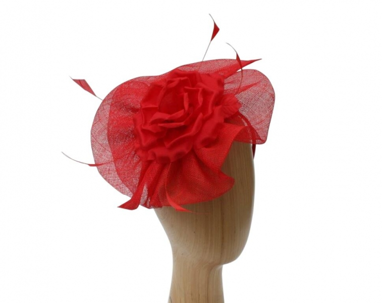 Abbey Red Fascinator