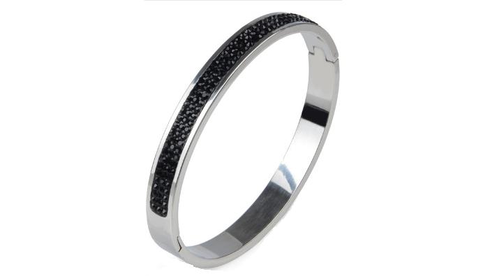 B152s Silver & black bracelet