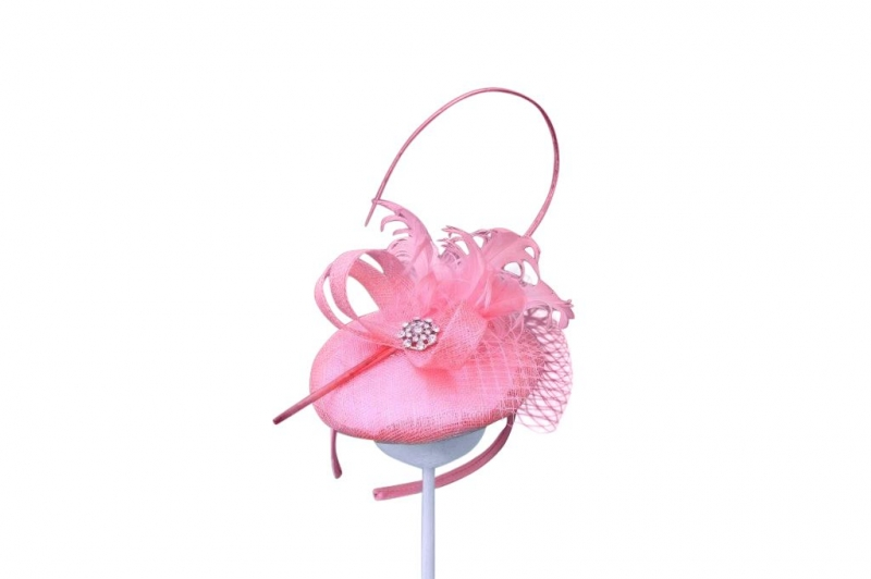 Bailey Coral Fascinator