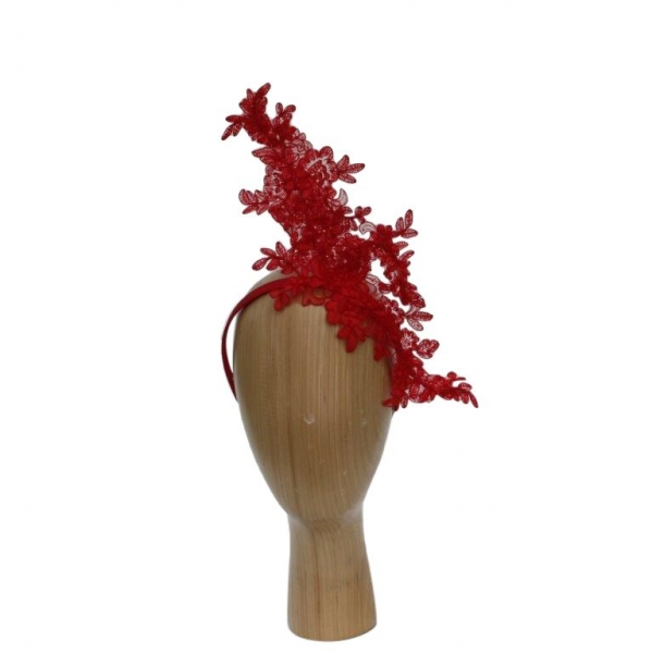 Camilla Red Fascinator
