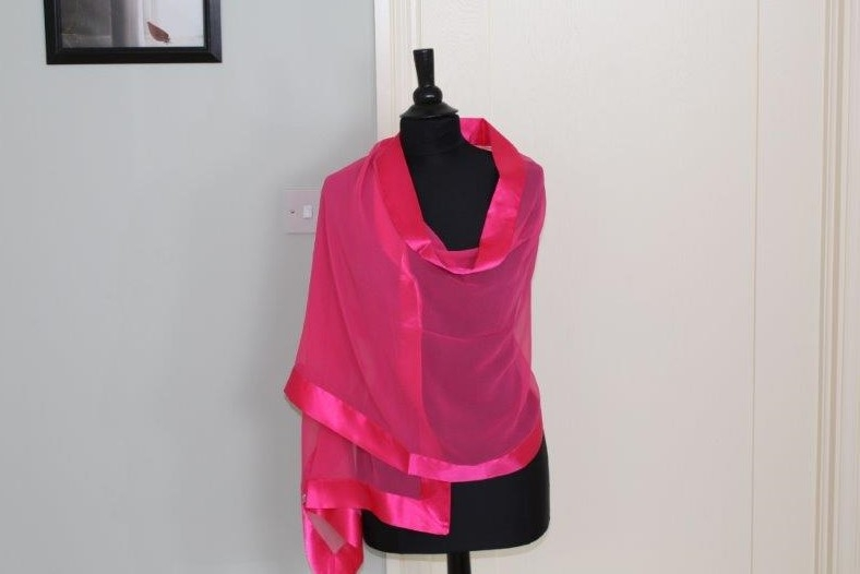 Cerise silk wrap