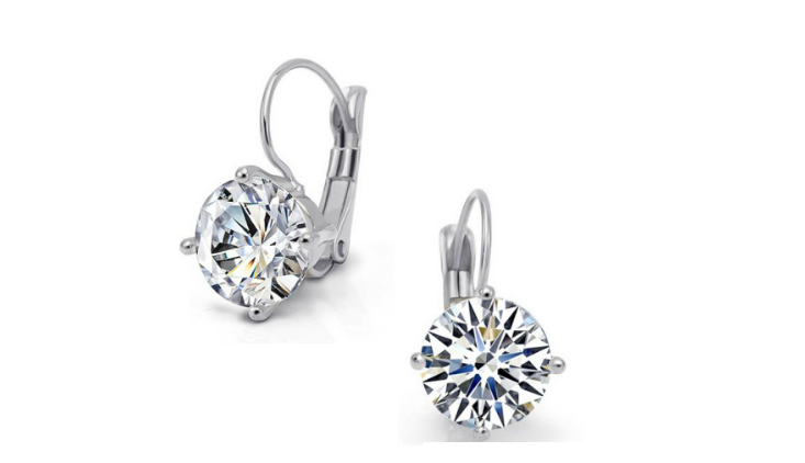 E227 Silver & clear crystal