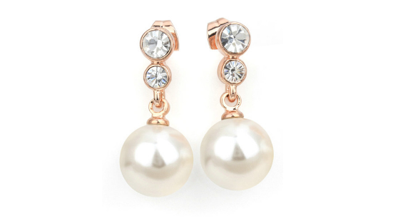 E413 Rose gold & pearl earring