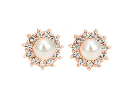 E402g Pearl stud earring