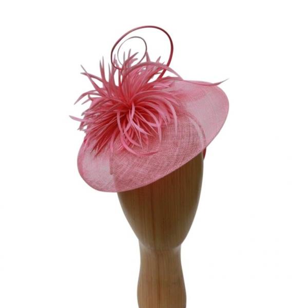 Eleanor Pink Fascinator