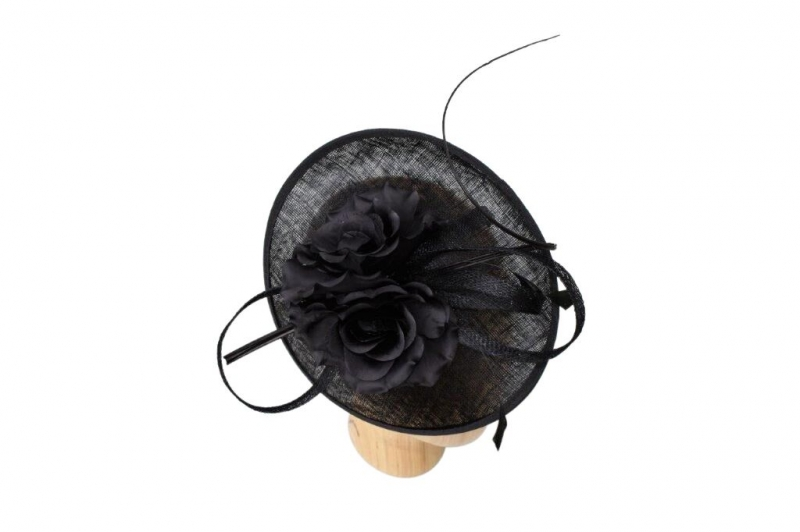 Emma black fascinator