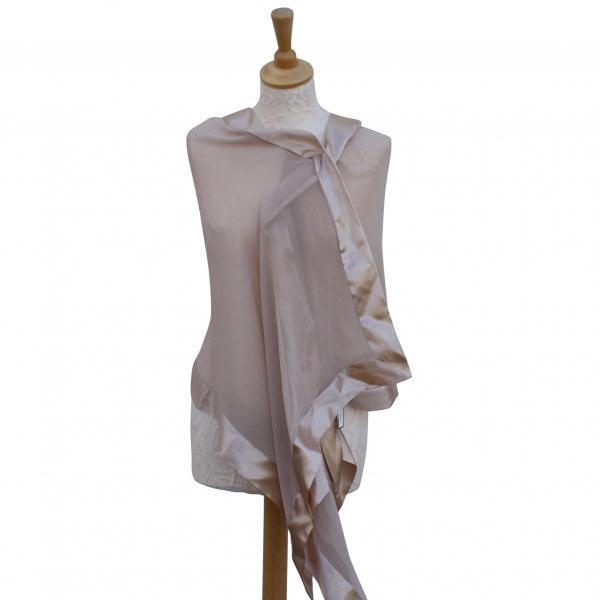 Gold silk scarf