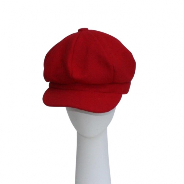 Red Baker Boy Hat.
