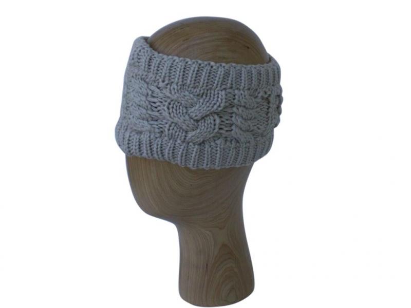 HB001 Beige Wool Headband