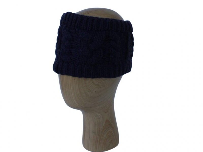 HB001 Navy Wool Headband