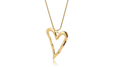 N424 Oversized heart necklace