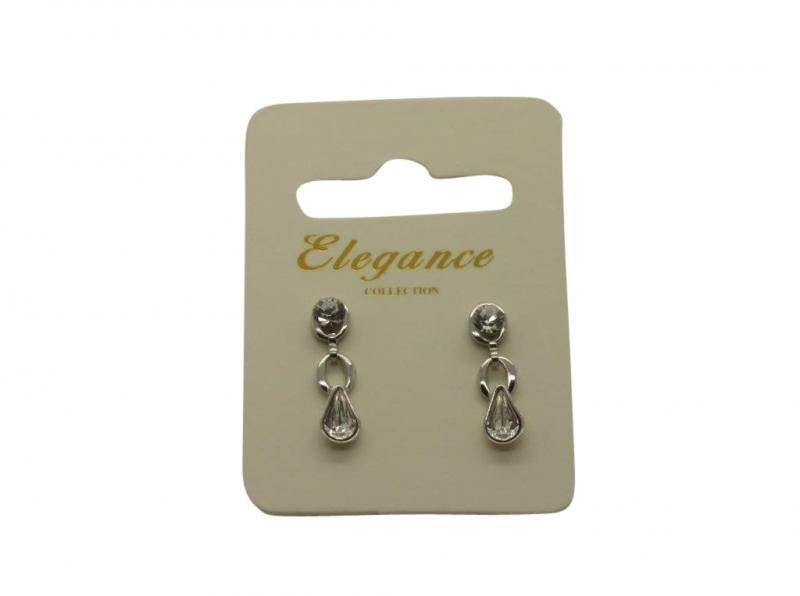 E161 Crystal drop earring