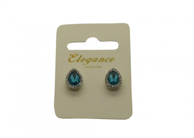 E218bL Teardrop crystal earring