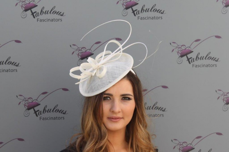 Jenna cream fascinator