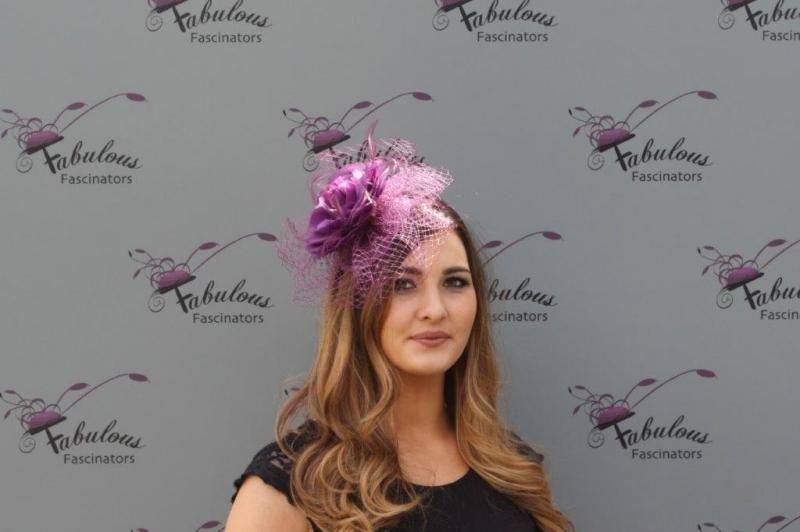 Lilly Purple fascinator