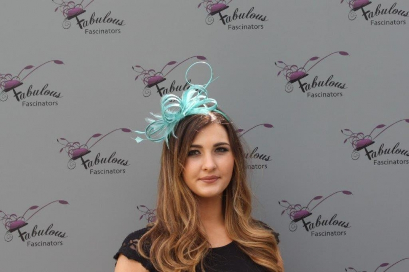 Alice turquoise fascinator
