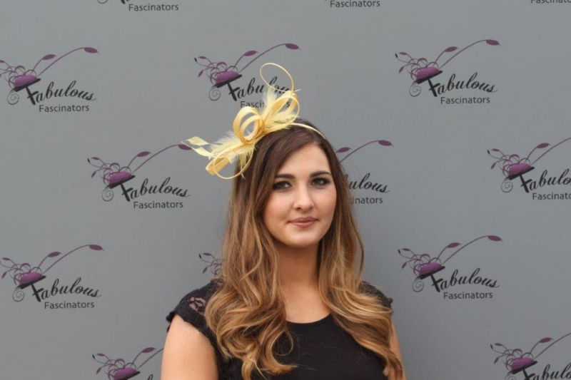 Alice yellow fascinator