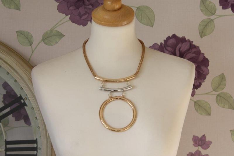 N18 Tri-Metal Necklace