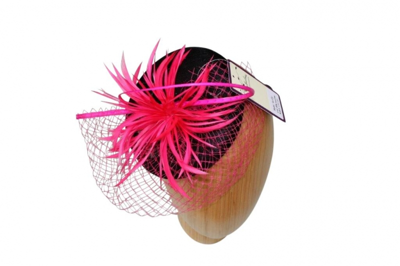 Kelly Black/cerise  fascinators