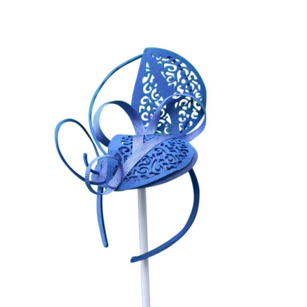 Lacey Cobalt Fascinator.