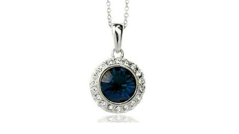N248n Navy crystal pendant